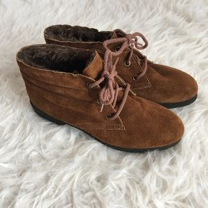 Hush Puppies vintage suede shearling chukka boots